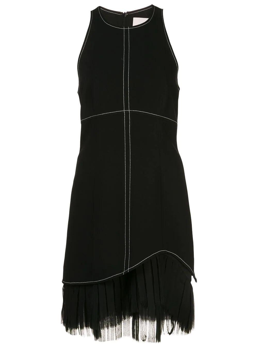 Cathy Halter Fringe Hem Mini Dress Item # ZD11701319Z