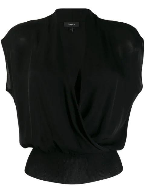 Drape Sleeveless Combo Top Item # J0502504