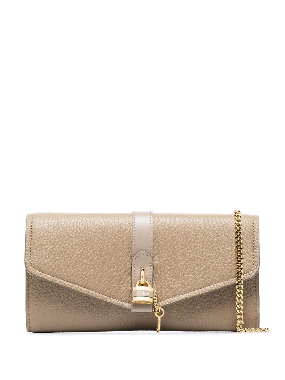 Aby Grained Leather Long Wallet Item # CHC20SP314B7123W