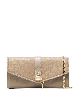 ABY Grained Leather Long Wallet