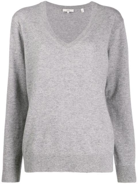 Core Weekend V Neck Cash Sweater