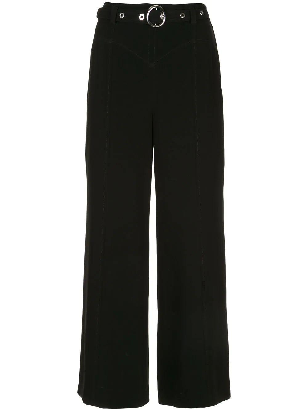 Polly O- Ring Crop Wide Leg Pant Item # ZP3681319Z