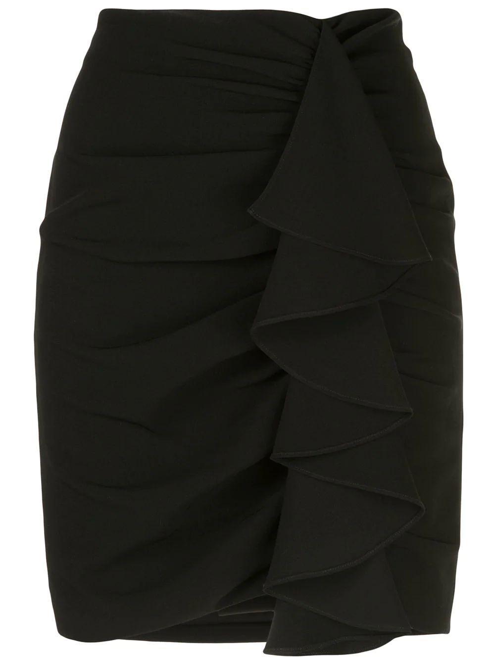 Suri Jersey Ruffle Front Mini Skirt Item # ZS1791319Z