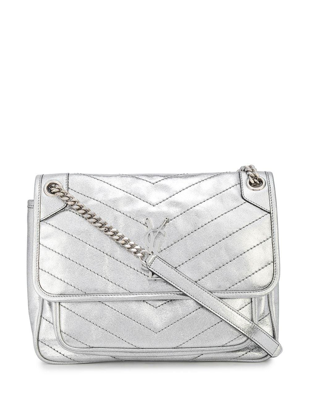 Niki Mono Crystal Lame Shoulder Bag