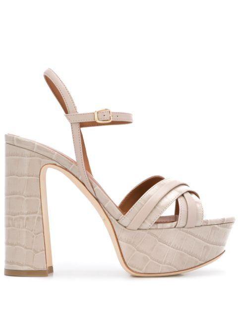 Crocodile Leather 125mm Platform Sandal Item # MILA125-3