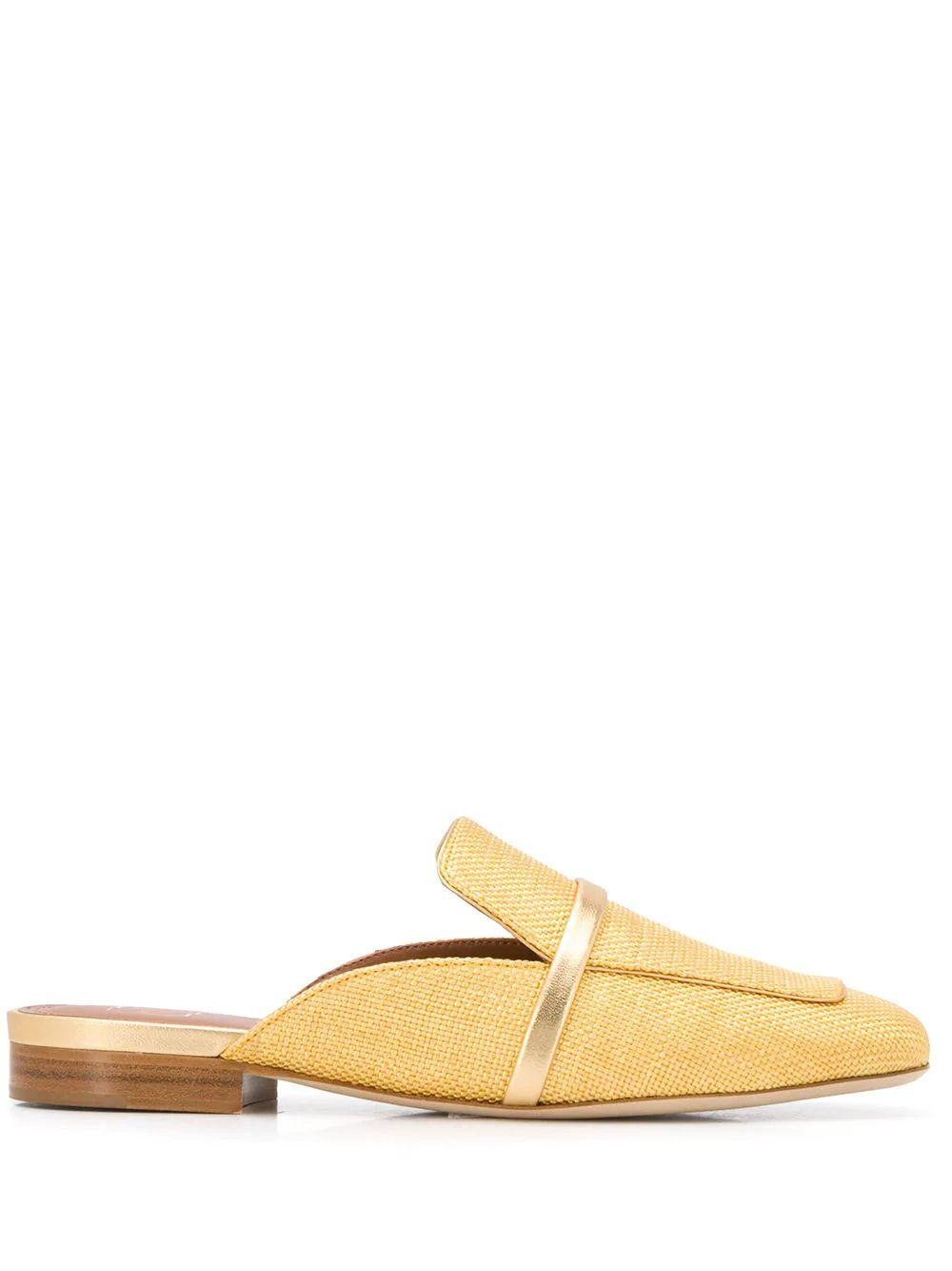 Raffia Metallic 10mm Flat Mule Item # JADA-FLAT11