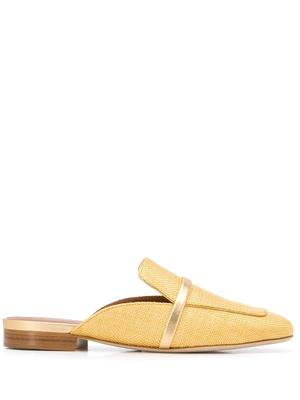 Raffia Metallic 10mm Flat Mule