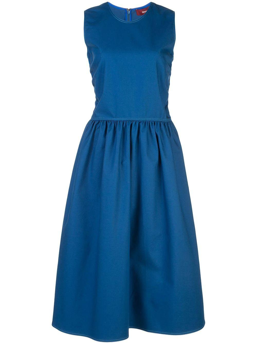 Violetta Sleeveless Stretch Cotton Canvas Dress Item # 15OF5239-19116
