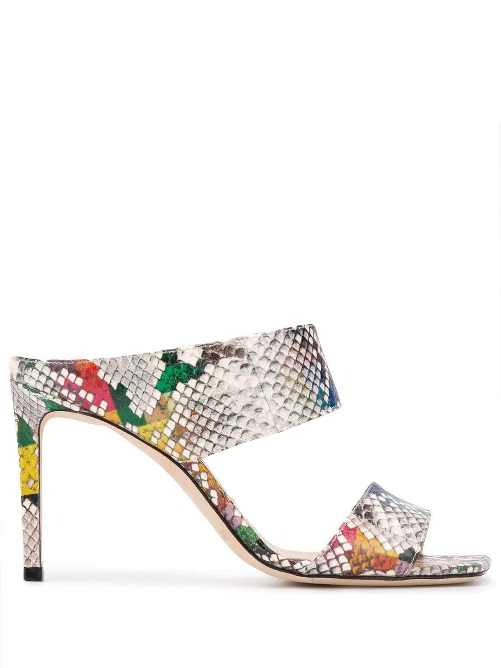 Glossy Rainbow Snake 85mm 2- Strap Sandal Item # HIRA85-YDD