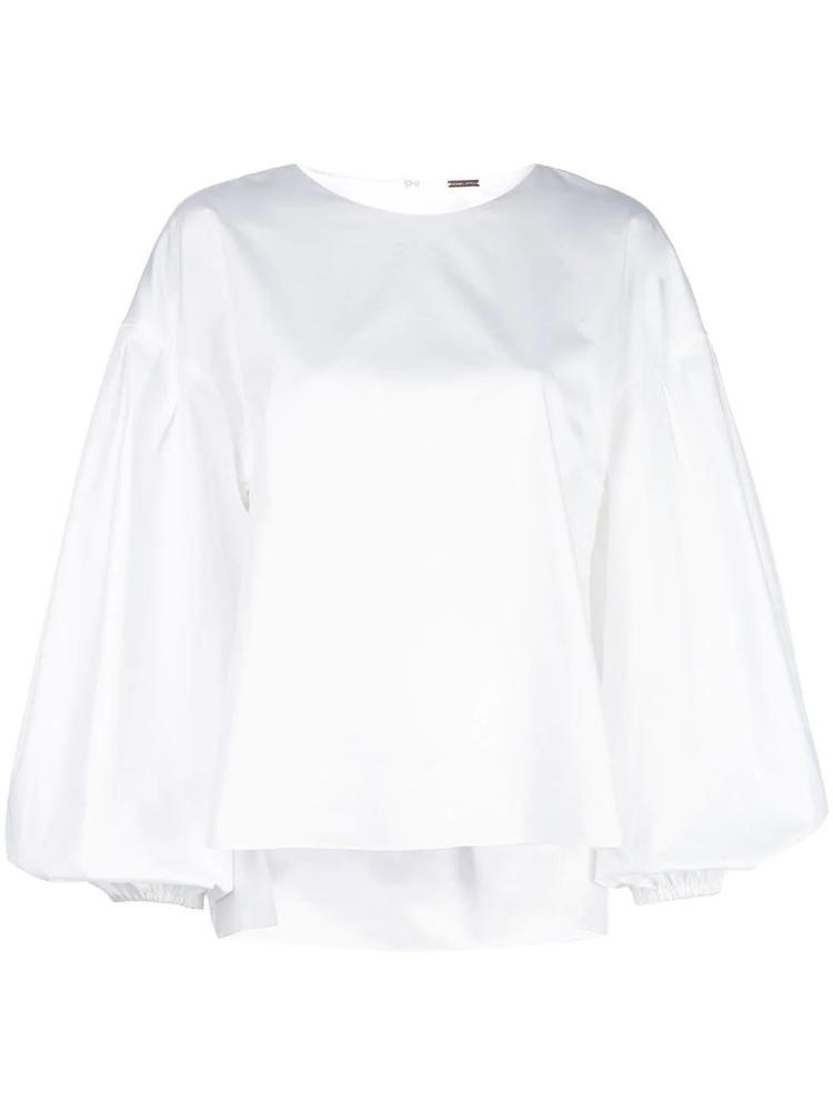 Long Sleeve Cotton Shirred Back Top Item # S20126CS