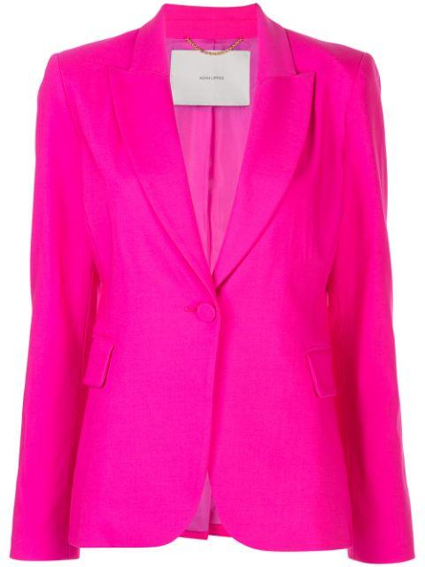 Single Breasted Tropical Wool Blazer