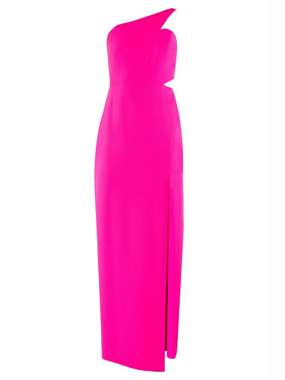 One Shoulder Crepe Long Dress Item # MN1E203657