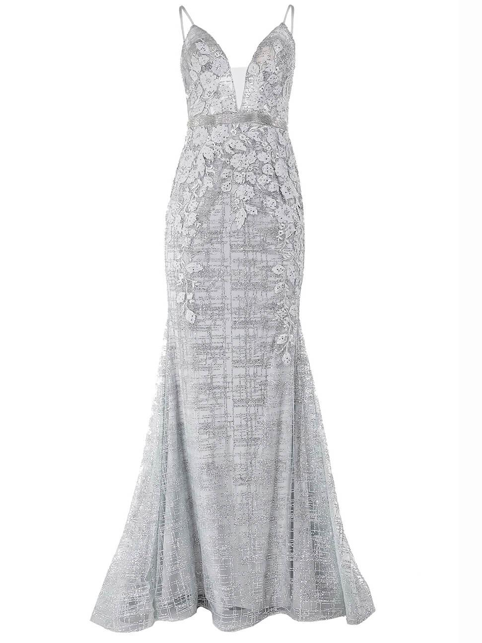 Sleeveless Lace Gown Item # 62517-S20C