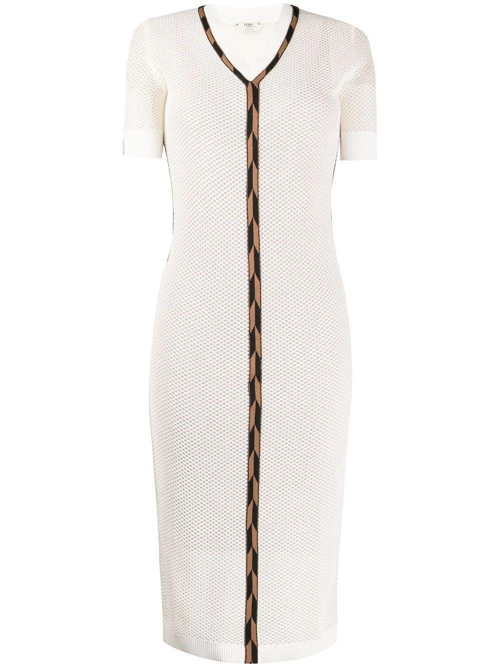 Micro Mesh V Neck Dress Item # FZD826-AAVH