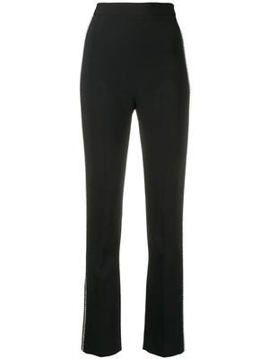Crystal Chain Side Embellished Slim Leg Trouser