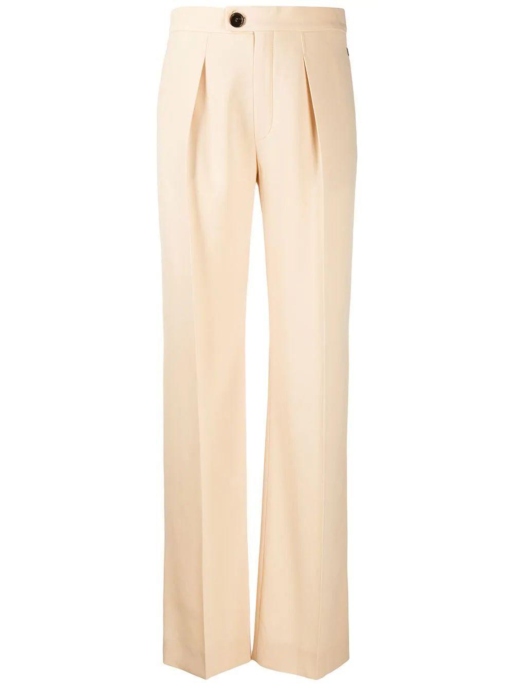 Satin-Back Crepe Trouser