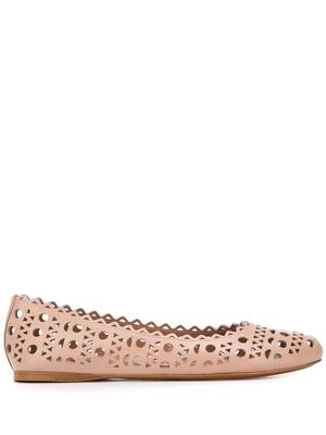 BALLET FLAT WITH CUTOUTS