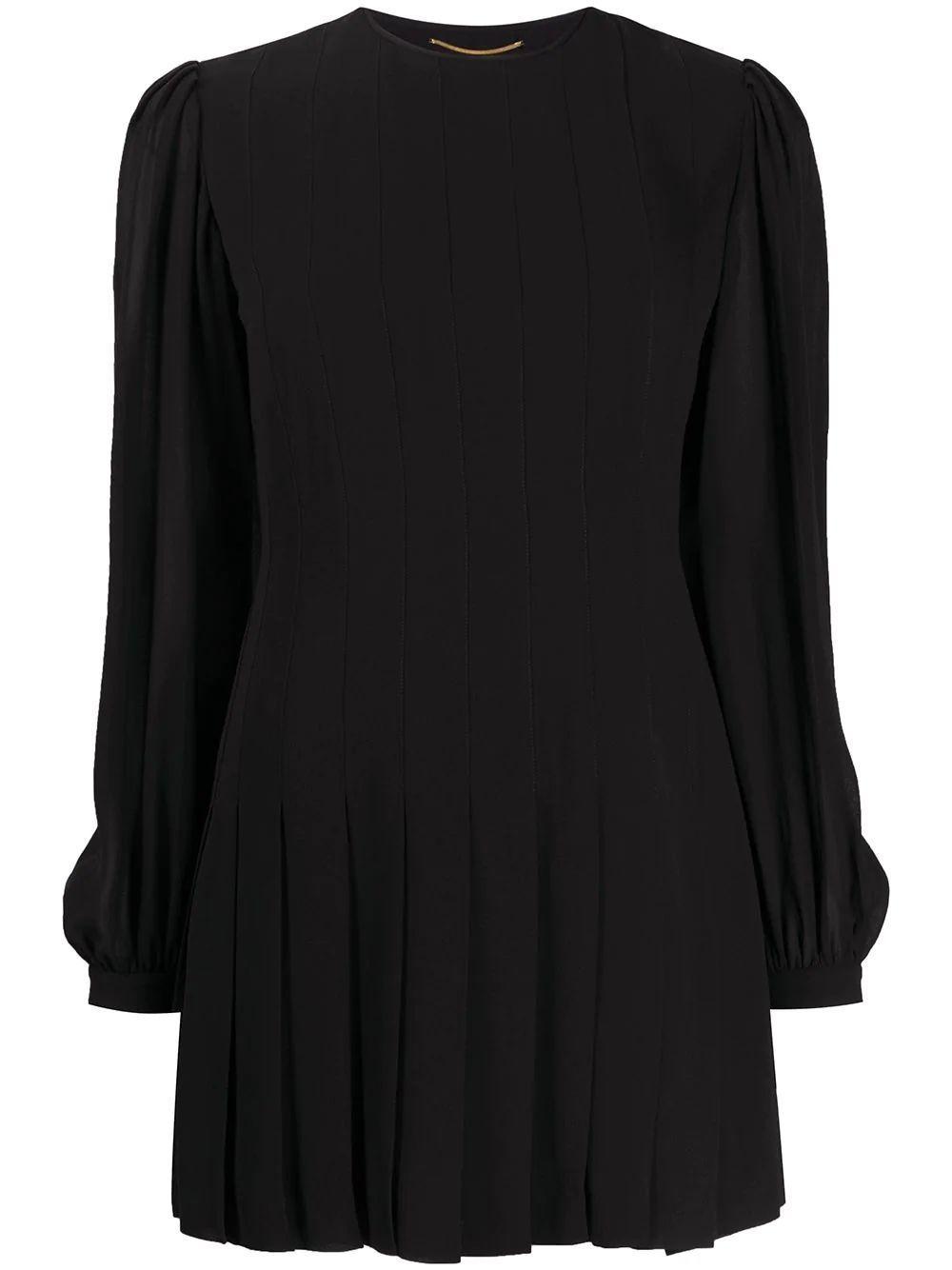 Long Sleeve Crepe Short Dress Item # 608954Y103W