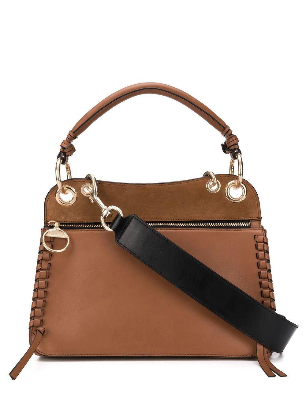 Structured Whipstitch Shoulder Bag
