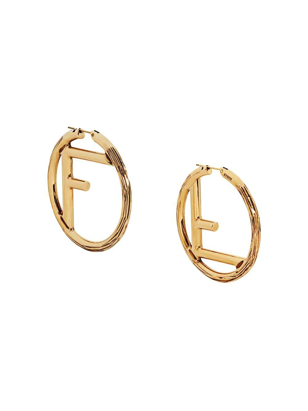 F Is For Fendi Logo Earrings Item # 8AG797-AB0T