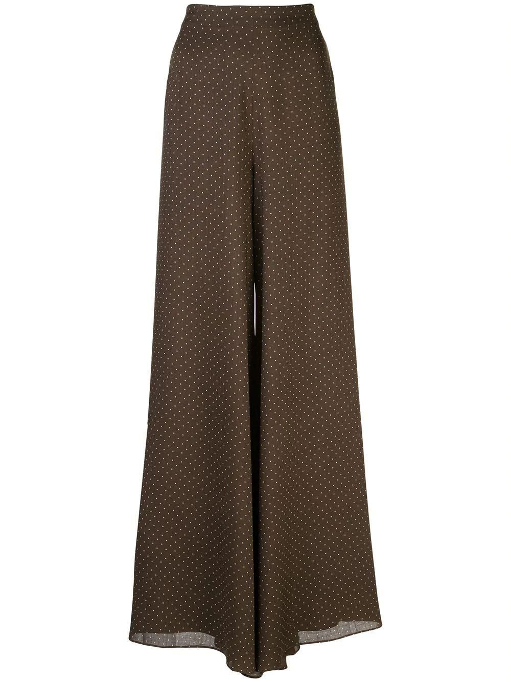 Antonin Linen Polka Dot Hw Wide Leg Pant Item # A1200625-6202
