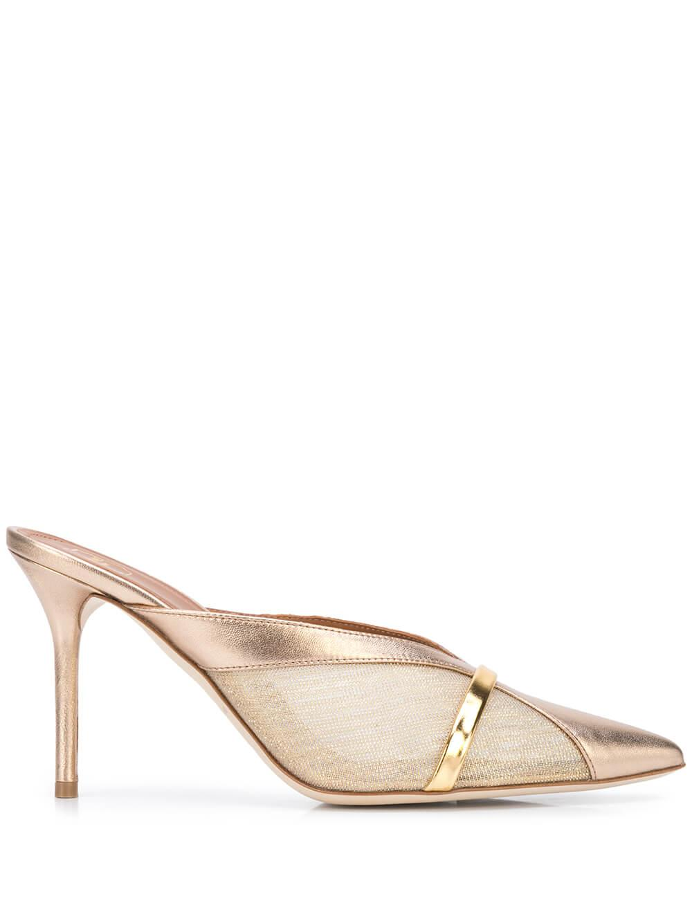 Bobbi Metallic Nappa Mesh 85mm Mule Item # BOBBI85-2
