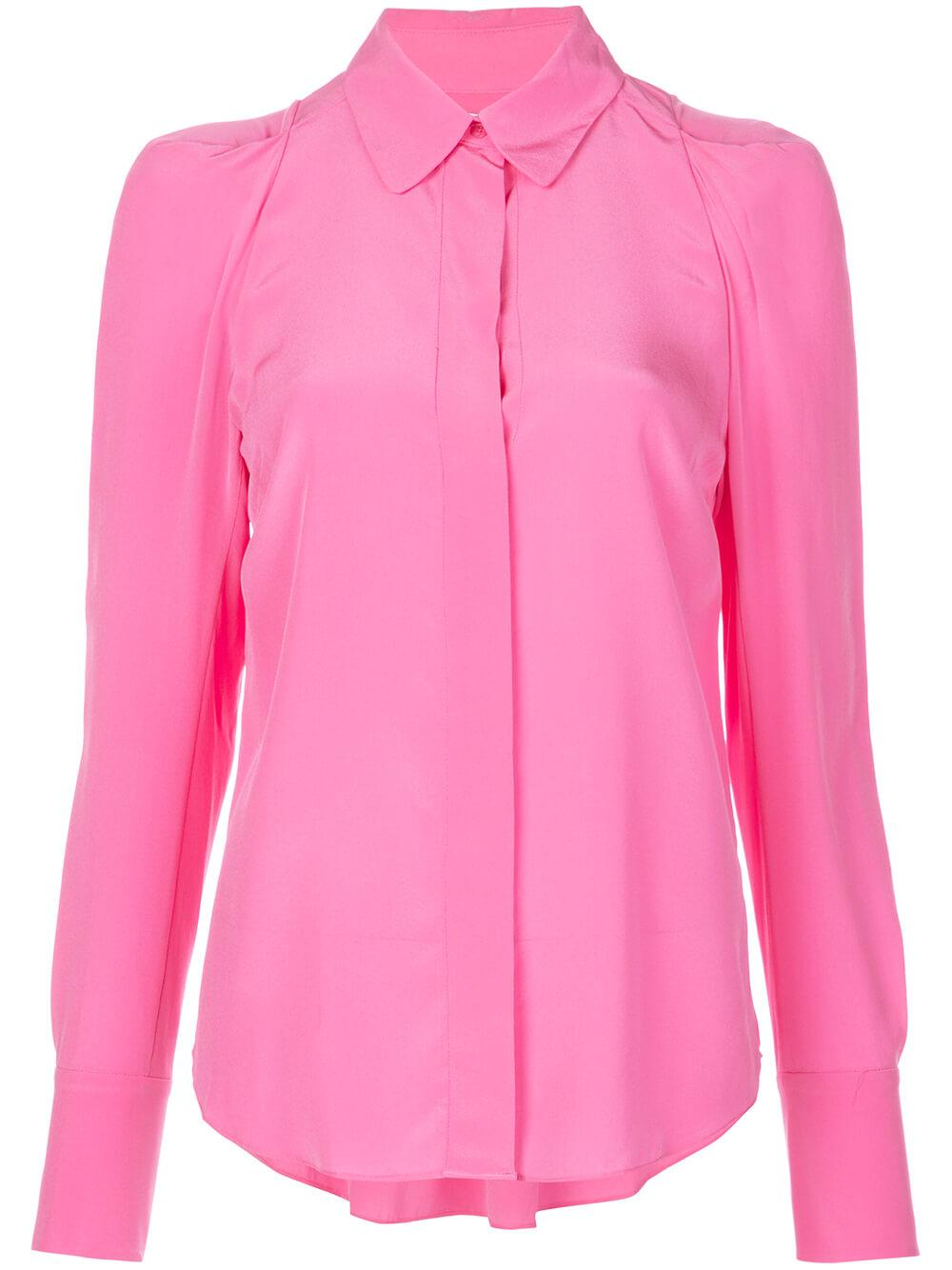 Carrera Puff Sleeve Pink Buttondown