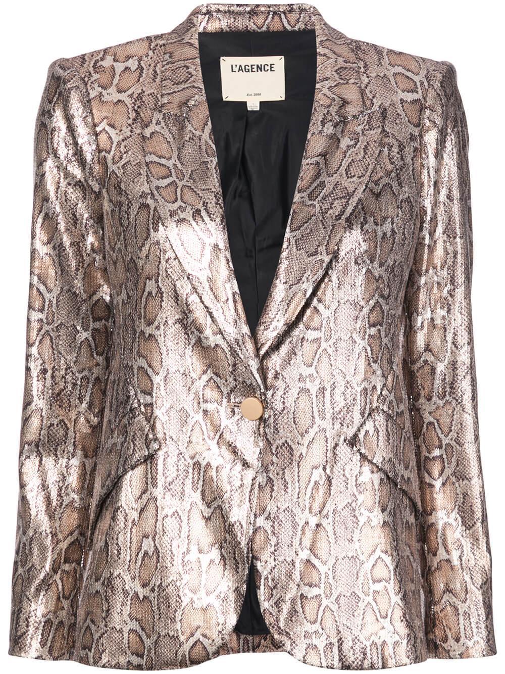 Chamberlain Sequin Python Blazer Item # 1377SNS