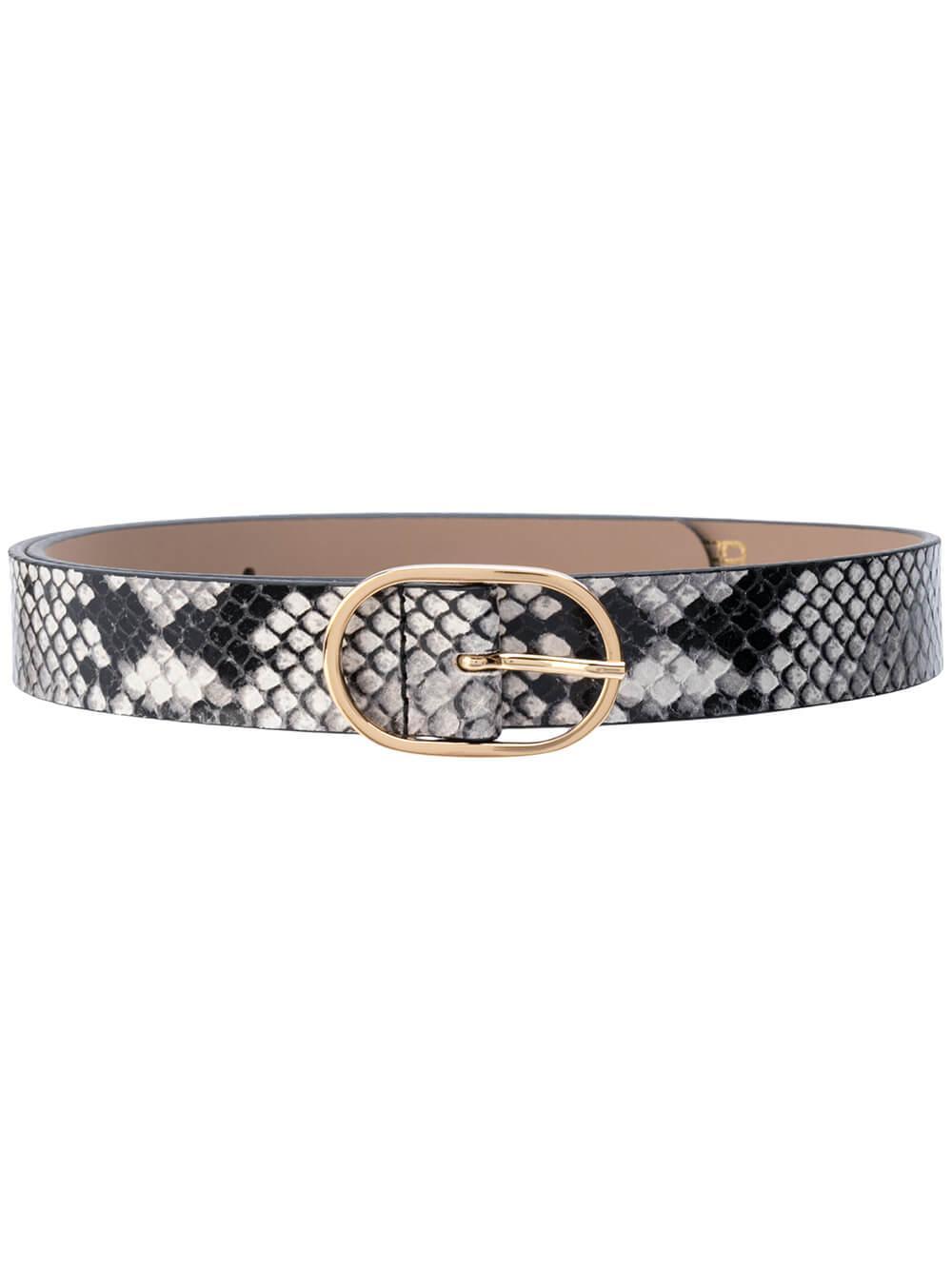 Emmie Mini Python Waist Belt