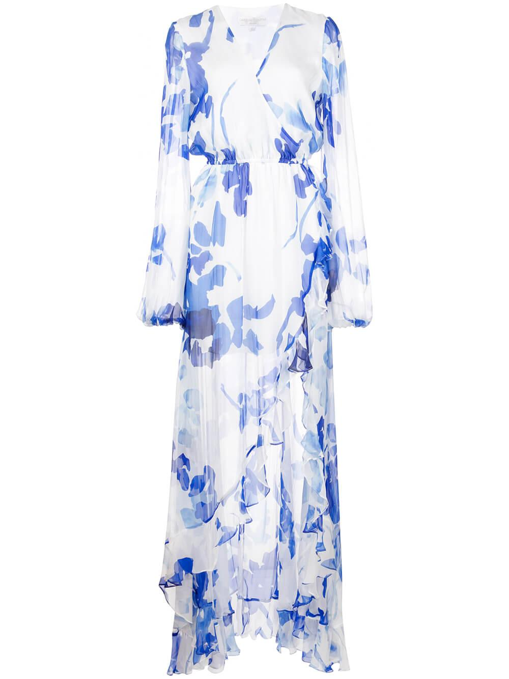 Liv Long Sleeve High Slit Gown