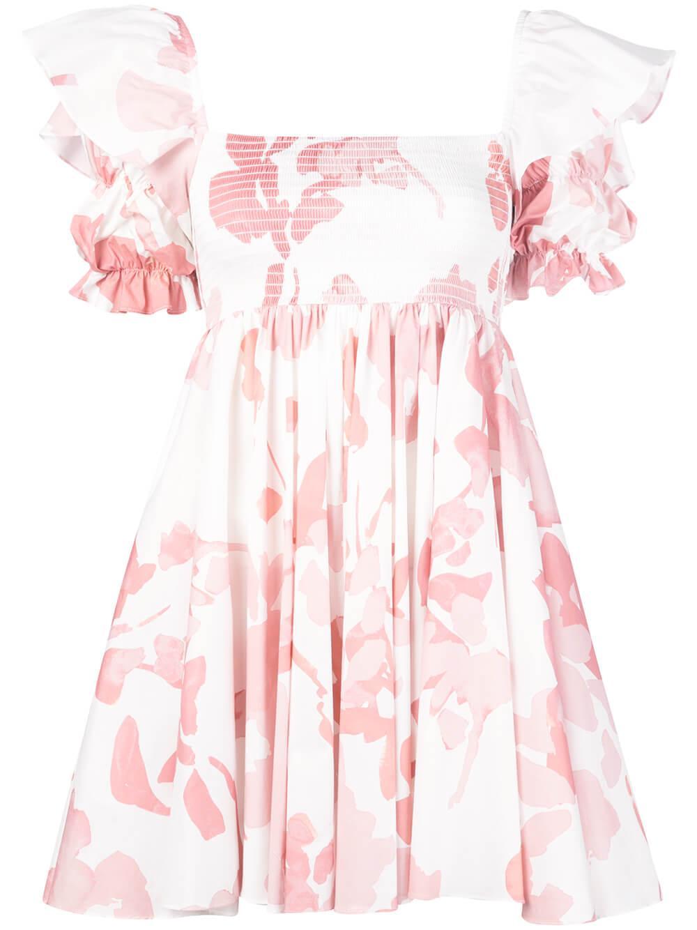 Hanna Foral Cotton Print Mini Dress