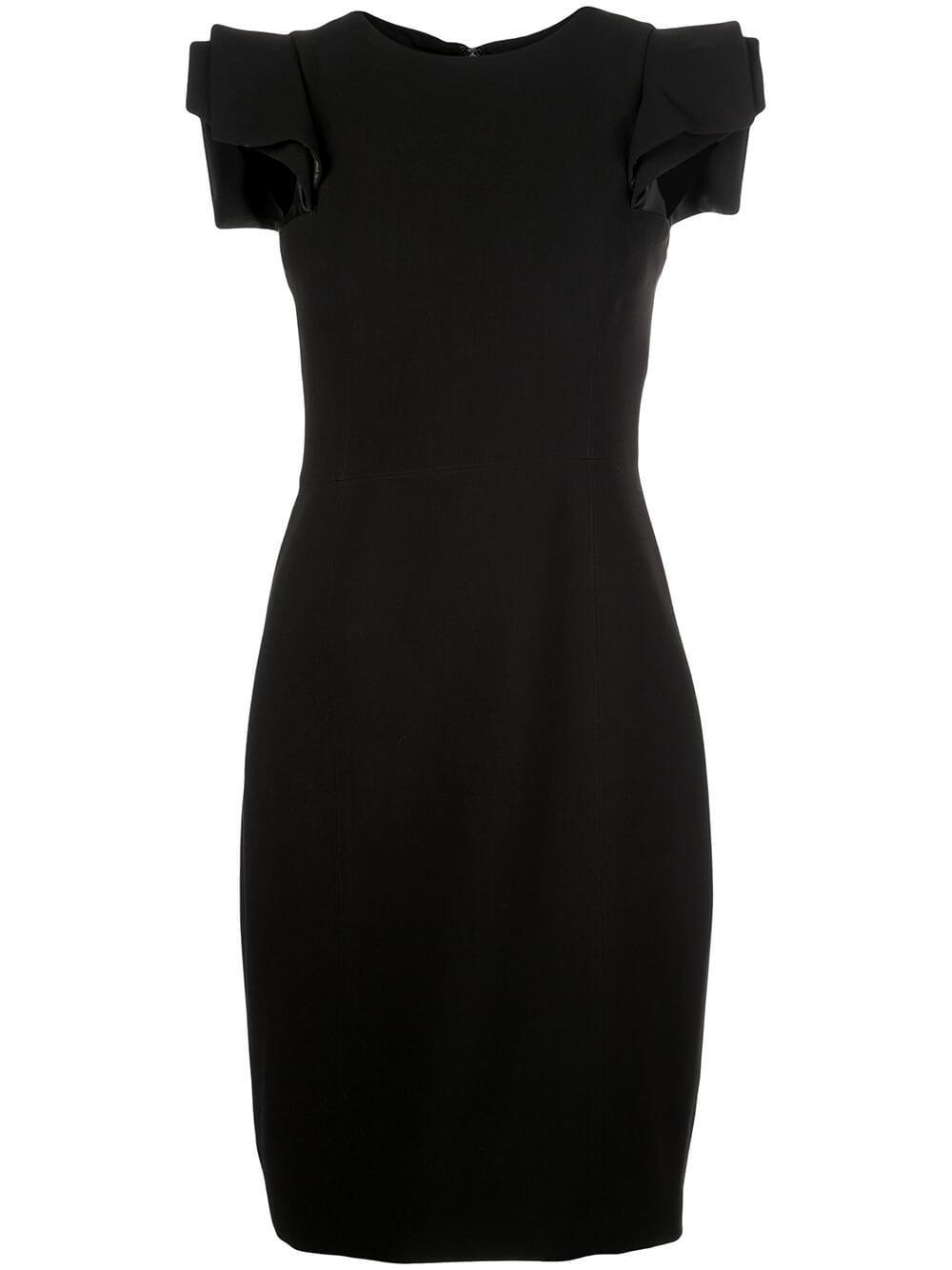 Slim Fit Layered Shoulder Dress