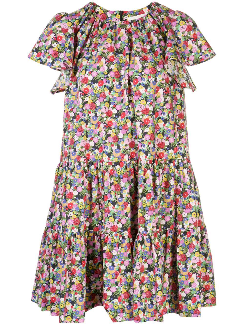 Snow Drop Floral Swing Dress Item # DRE0111-COT001