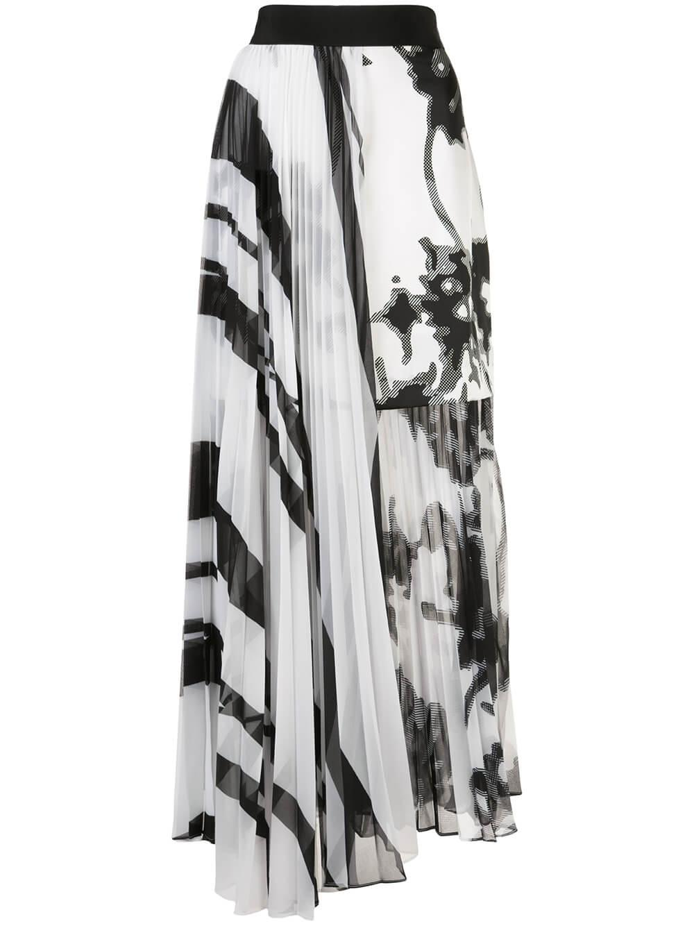 Gaelle Geometric Mirage Skirt Item # GAELLE-SKIRT
