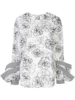Jessica Floral Print Cotton Blouse