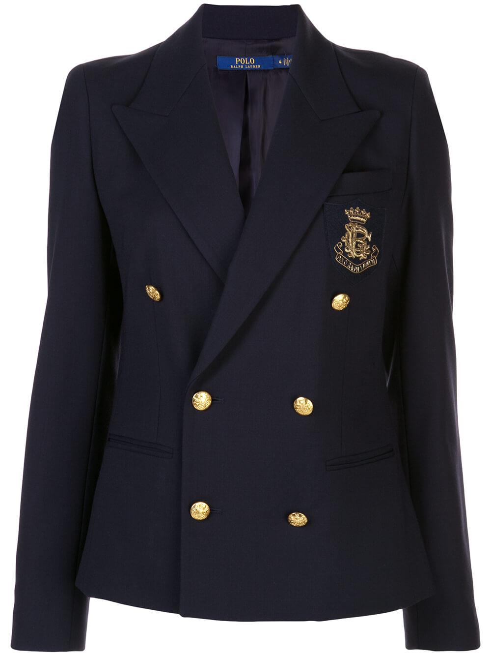 Double Breasted Crest Blazer