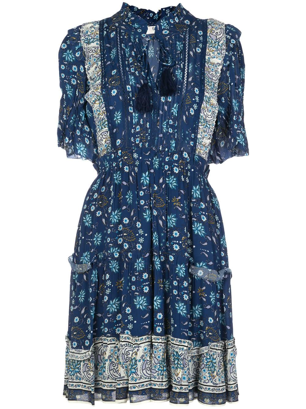 Penelope Paisley Short Sleeve Mini Dress