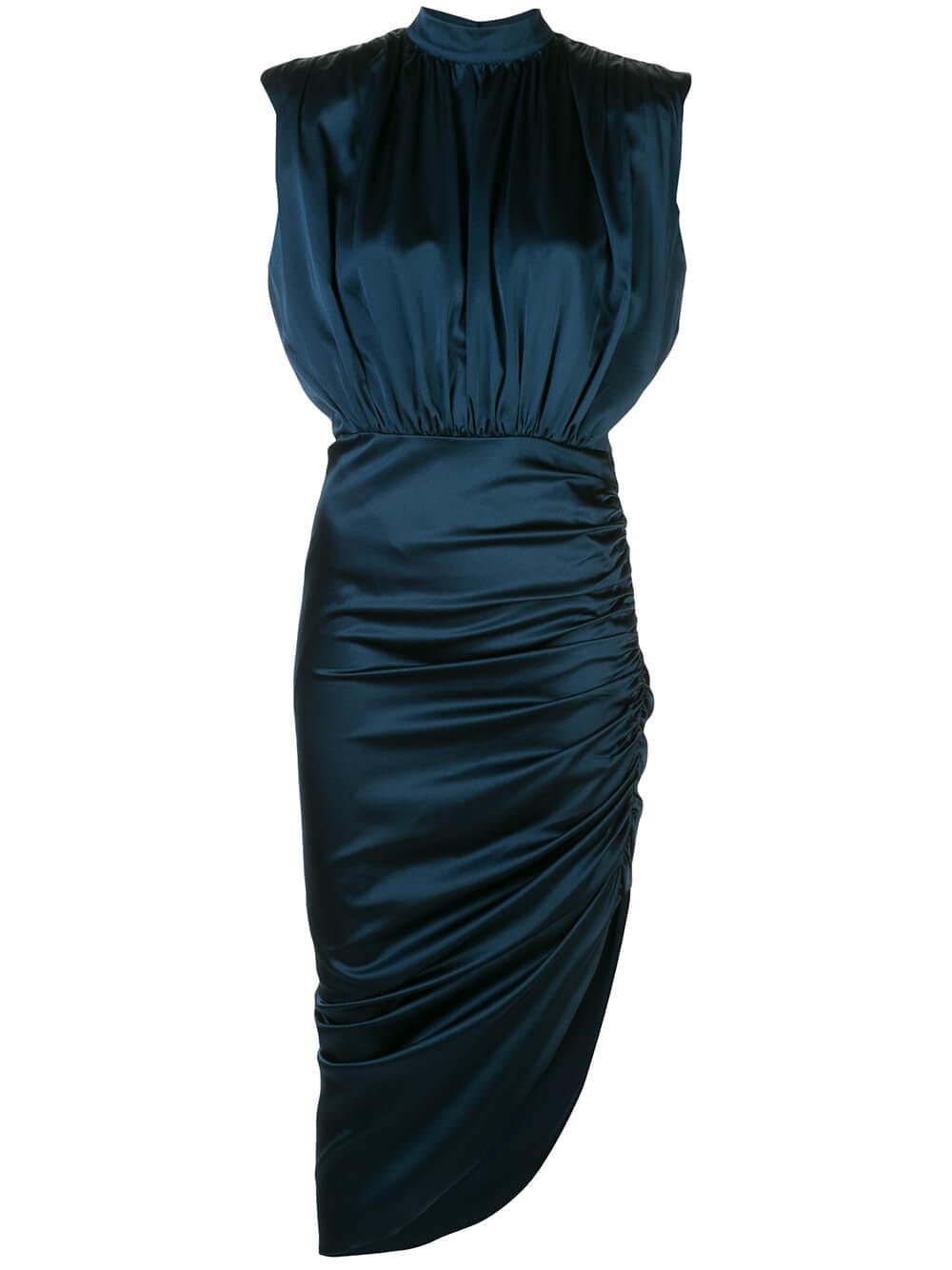 Kendall Cap Sleeve Mock Neck Midi Dress