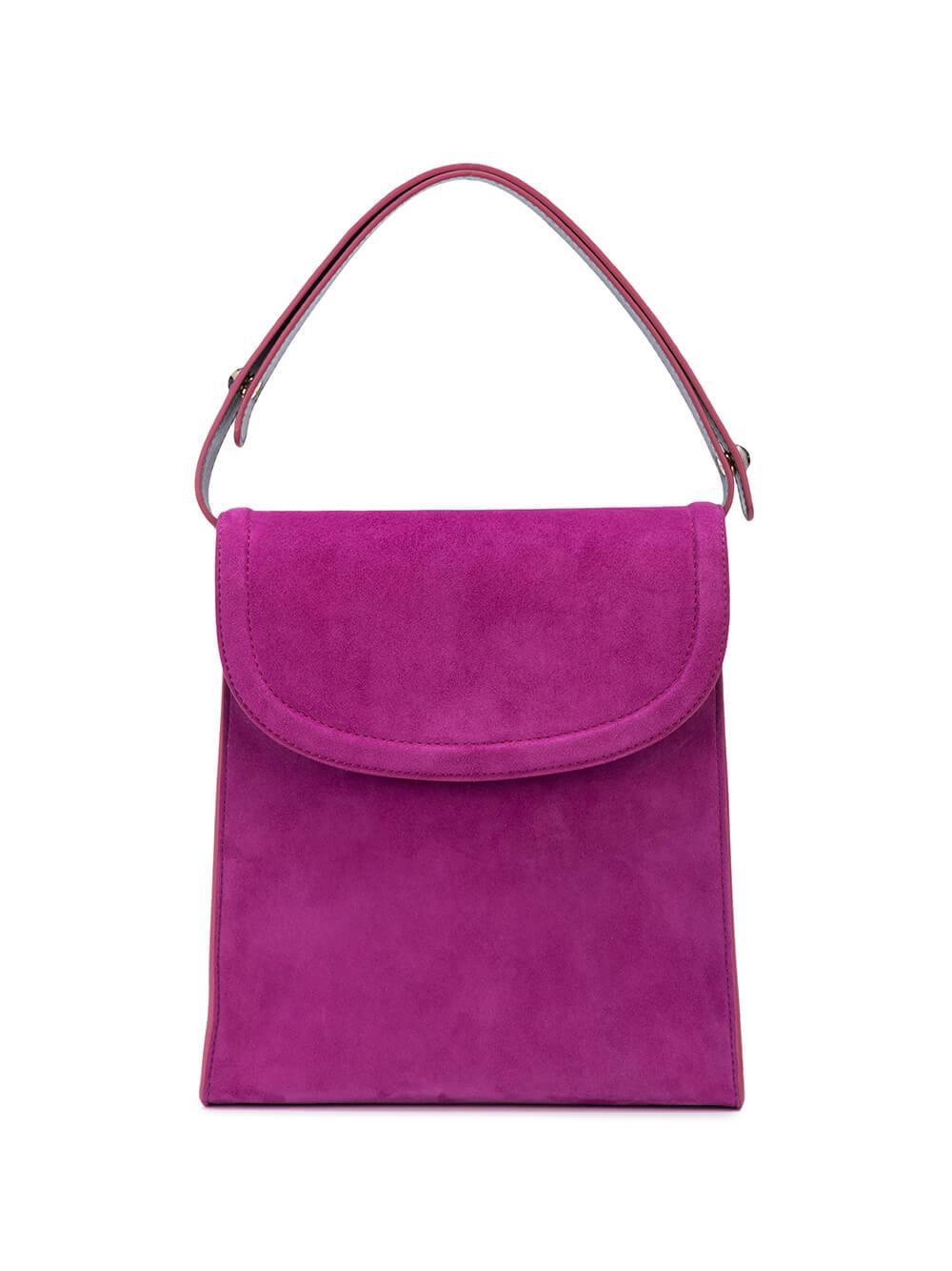 Teddy Top Handle Suede Bag Item # R20EPBTTH13001