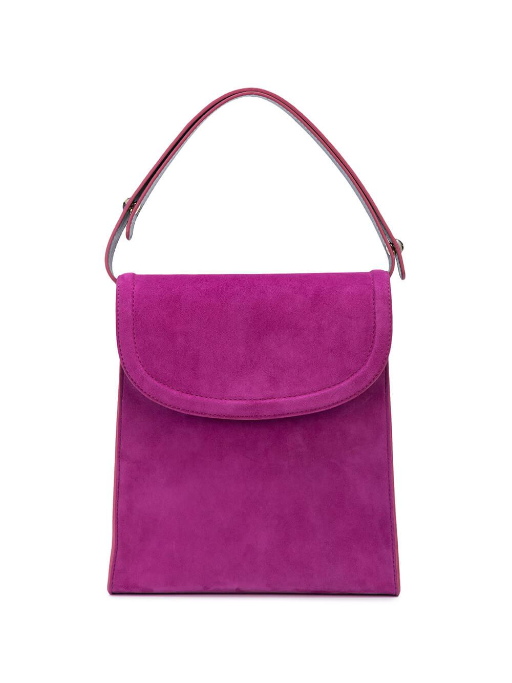 Teddy Top Handle Suede Bag