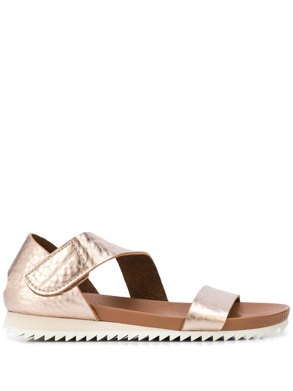 Flat Metallic Sandal