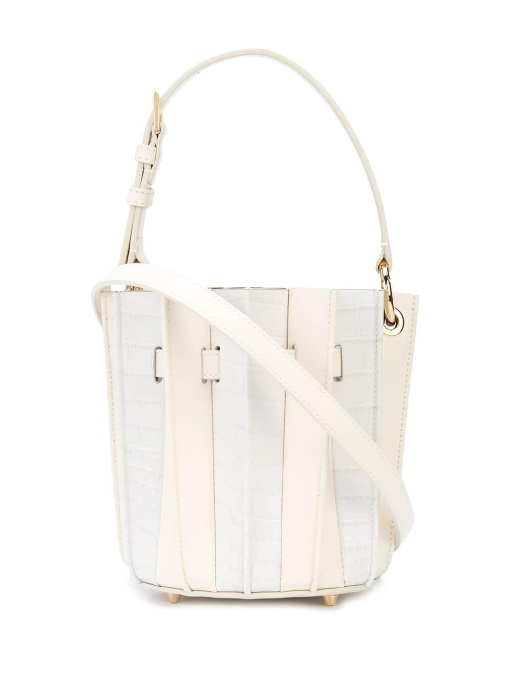 Plisse Mini Bucket Bag