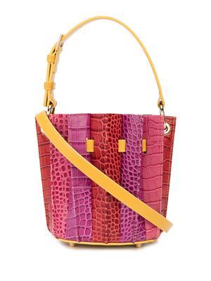 Plisse Mini Bucket Bag