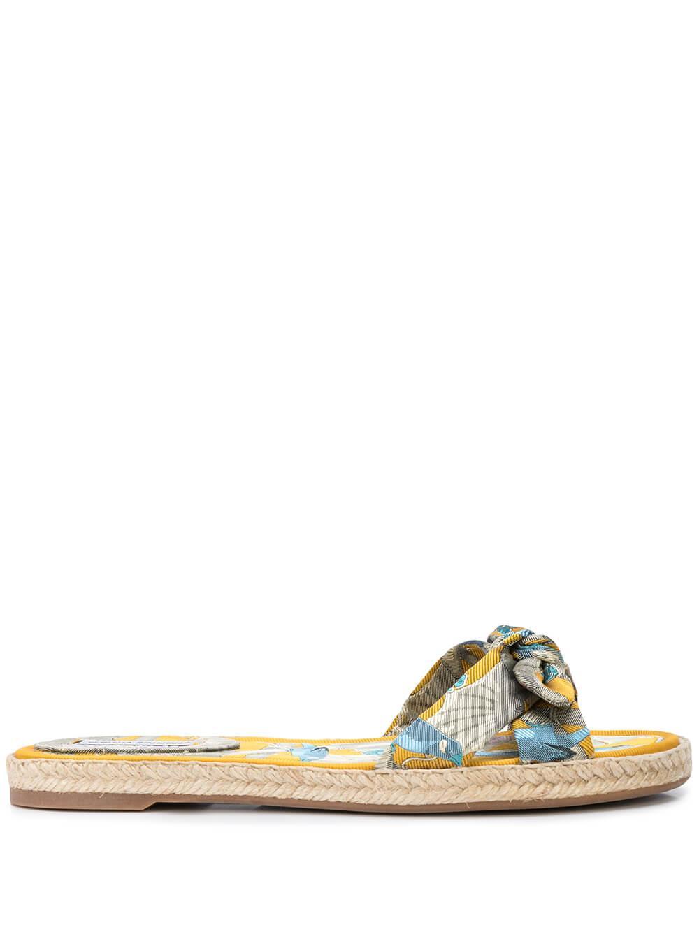 Heli Jacquard Flat Slide Sandal