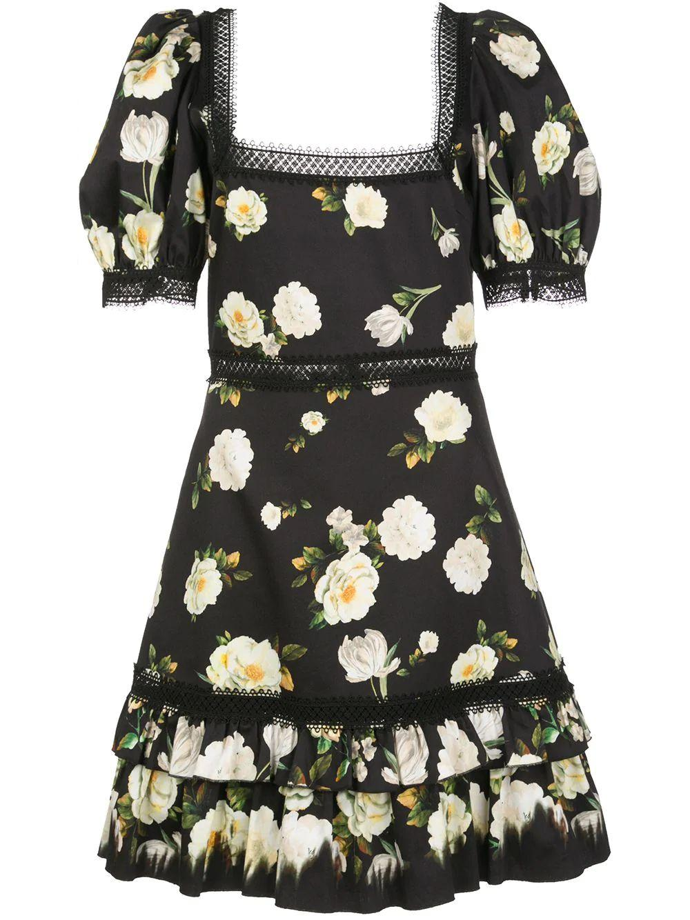Wylie Square Neck Puff Sleeve Mini Dress Item # CC002P96536