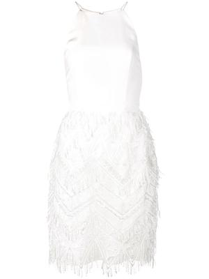 High Neck Embroidered Fringe Dress