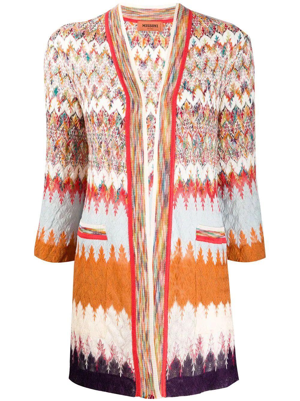 3/4 Full Sleeve Open Cardigan Item # MDM00098-BR007T