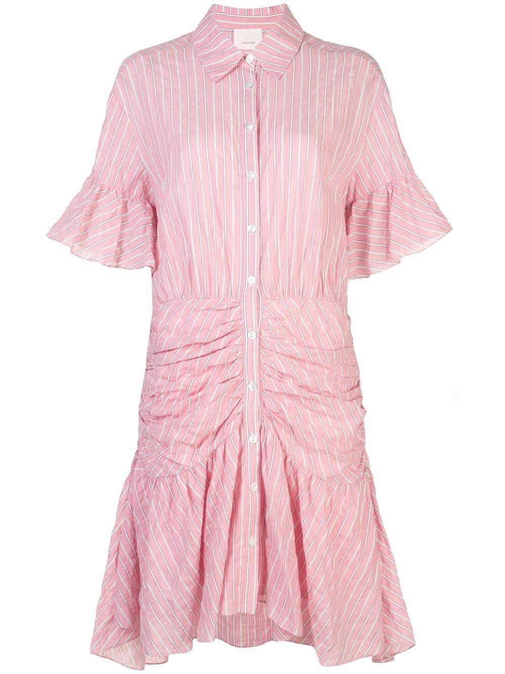 Asher Stripe Poplin Shirt Dress Item # ZD888B3334Z