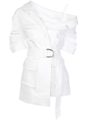 Katie Off the Shoulder Wrap Belted Jacket