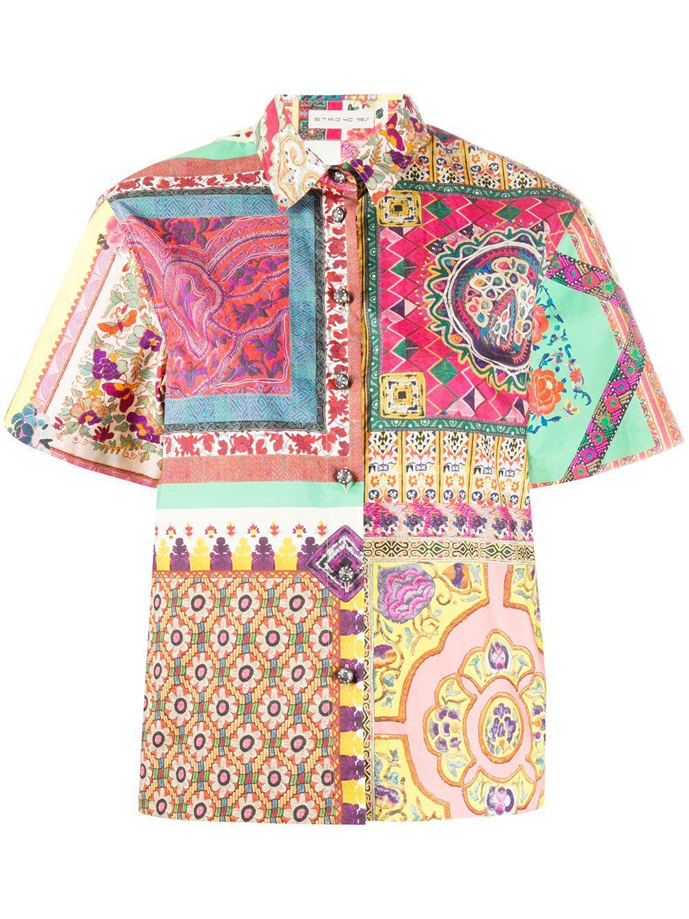 Short Sleeve Cotton Patch Shirt